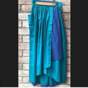 Escada | Sz. 2 Women's Vintage Hi/Low Maxi Skirt